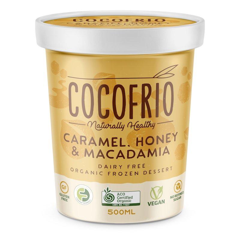 COCOFRIO - CARAMEL HONEY (NON-VEGAN) MACADAMIA 500ML (FROZEN BOX OF 6)