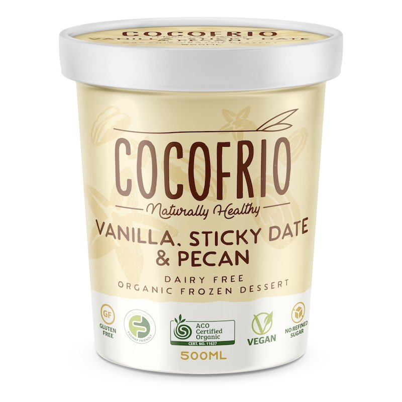 COCOFRIO - VANILLA STICKY DATE & PECAN 500ML (FROZEN BOX OF 6)