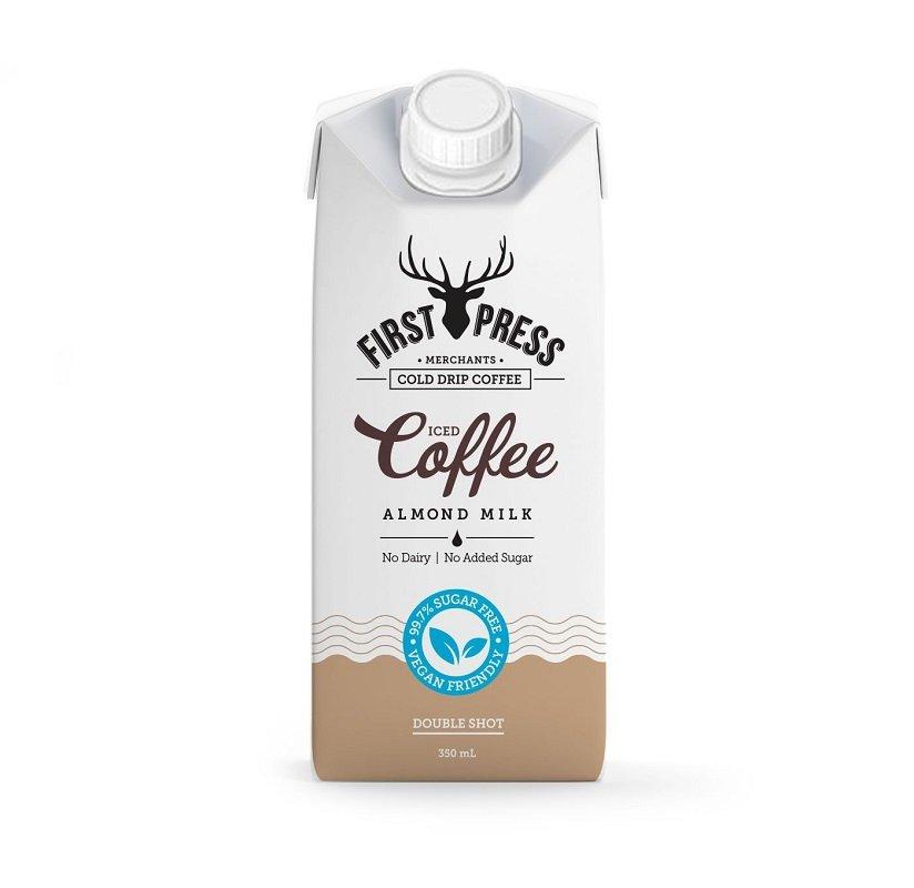 FIRST PRESS ALMOND MILK COFFEE **NO ADDED SUGAR** 350ML (BOX OF 12)