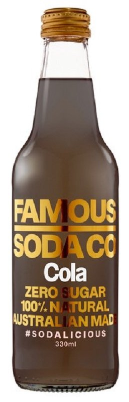 FAMOUS SODA COLA 330ML (BOX OF 12)