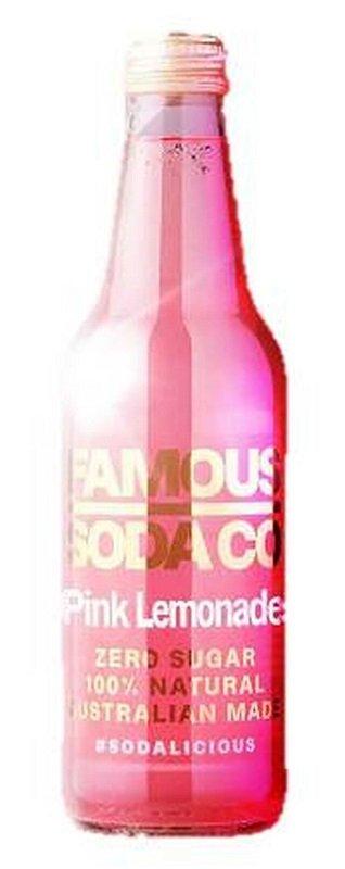 FAMOUS SODA PINK LEMONADE 330ML (BOX OF 12)