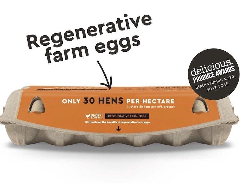 HONEST REGENERATIVE FARM EGGS DOZEN X-LARGE 800G (BOX OF 15)