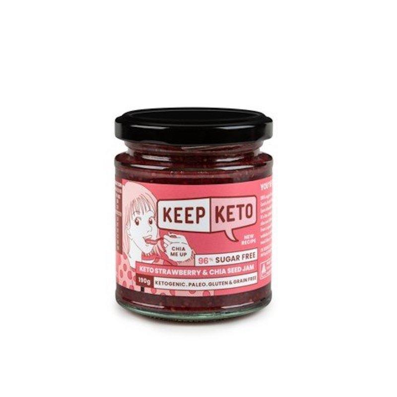 KEEP KETO STRAWBERRY & CHIA SEED JAM 190G (BOX OF 6)