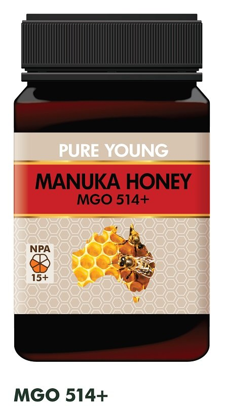 PURE YOUNG MANUKA HONEY MGO514+ (BOX OF 6) ** SPECIAL 20% DISCOUNT**