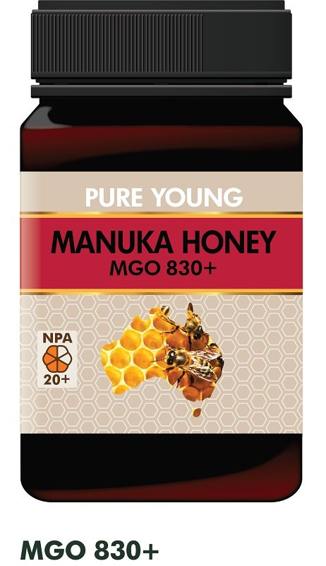 PURE YOUNG MANUKA HONEY MGO830+ (BOX OF 6) **SPECIAL 20% DISCOUNT!**