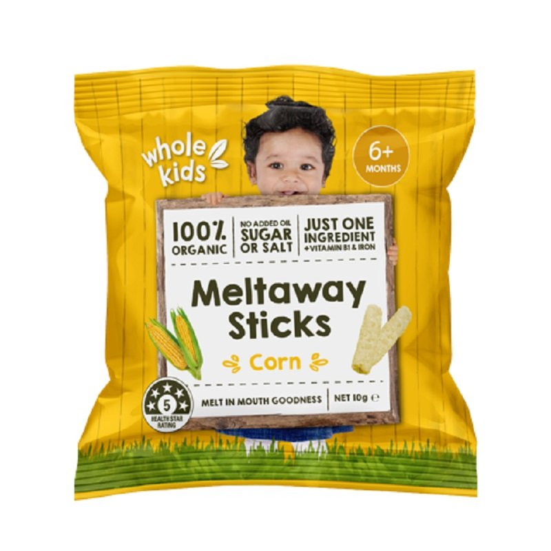 WHOLE KIDS MELTAWAY STICKS CORN 10G (BOX OF 7)