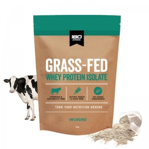 180 GRASS FED WPI - UNFLAVOURED 1KG (BOX OF 4)
