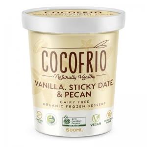 COCOFRIO - VANILLA STICKY DATE & PECAN 500ML (FROZEN BOX OF 6)