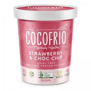 COCOFRIO - STRAWBERRY CHOC CHIP 500ML (FROZEN BOX OF 6)