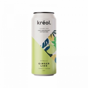 KREOL ANTIOXIDANT INFUSION GINGER LIME 330ML (BOX OF 12)