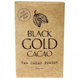 BLACK GOLD - ORGANIC RAW CACAO 125G (BOX OF 8)