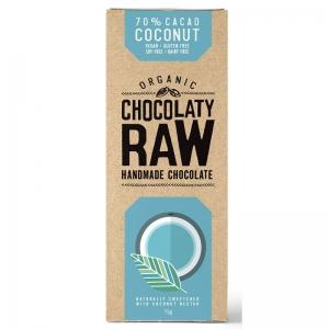 CHOCOLATY RAW - COCONUT 75G (BOX OF 12)