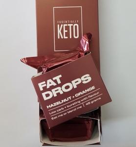 ESSENTIALLY KETO *NEW* FAT DROPS HAZELNUT  ORANGE 45G X 6 (BOX OF 6)