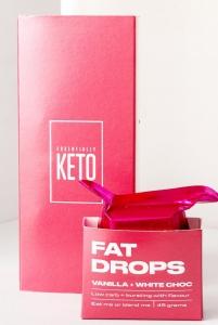 ESSENTIALLY KETO *NEW* FAT DROPS VANILLA 45G X 6 (BOX OF 6)