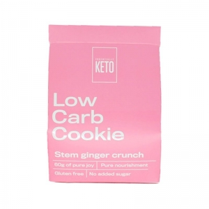 ESSENTIALLY KETO L/C COOKIE STEM GINGER CRUNCH 60G (BOX OF 6)