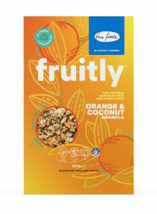 "FINE FETTLE FRUITLY GRANOLA ""ORANGE COCONUT"" 35OG (BOX OF 6)"