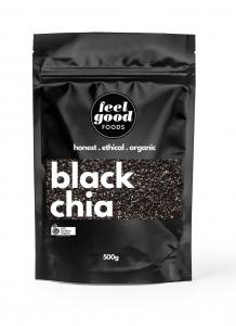 FEEL GOOD ORGANIC CHIA SEED BLACK 500G (BOX OF 6)