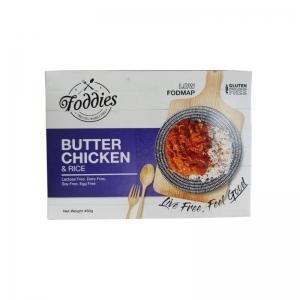 FODDIES BUTTER CHICKEN LOW FODMAP FROZEN MEAL 300G (BOX OF 6)