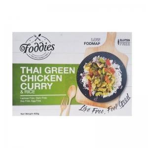 FODDIES THAI GREEN CURRY LOW FODMAP FROZEN MEAL 350G (BOX OF 6)