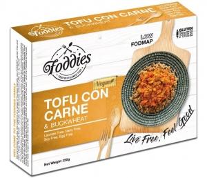 FODDIES TOFU CON CARNE LOW FODMAP FROZEN MEAL 350G (BOX OF 6)