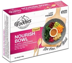 FODDIES NOURISH BOWL LOW FODMAP FROZEN MEAL 350G (BOX OF 6)