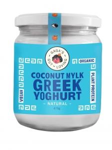 GAGA'S ORGANIC PLANT BASED GREEK YOGHURT **ORIGINAL** 500G (BOX OF 6)