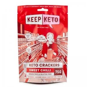 KEEP KETO CRACKERS SWEET CHILLI 75G (BOX OF 6)