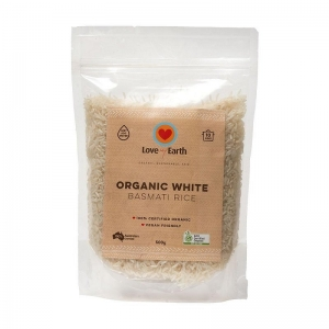 LOVE MY EARTH - ORGANIC WHITE BASMATI RICE **CLEARANCE SPECIAL**