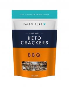 PALEO PURE KETO CRACKERS BBQ 140G (BOX OF 6)