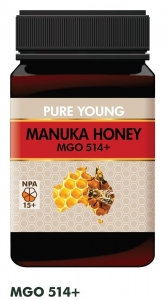 PURE YOUNG MANUKA HONEY MGO514+ (BOX OF 6) **CLEARANCE SPECIAL**