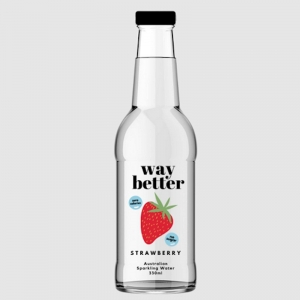 WAY BETTER SPARKLING WATER STRAWBERRY 330ML (BOX OF 12)