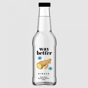 WAY BETTER SPARKLING WATER GINGER 330ML (BOX OF 12)