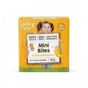 WHOLE KIDS ORGANIC MINI BITES OAT BANANA 4 X 20G (BOX OF 4)